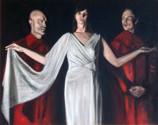 Athena and Attendants - Oil on Canvas - 30 x 24 inches