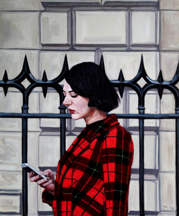 Tartan Text - Oil on Canvas - 24 x 20 inches