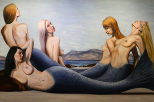 Ionian Mermaids - Oil on Canvas - 72 x 48 inches