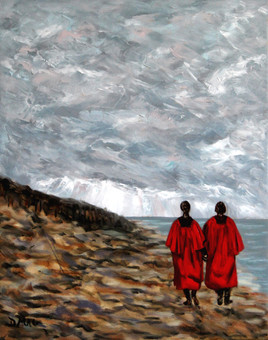 Sunday Stroll - Oil on Canvas - 20 x 16 inches
