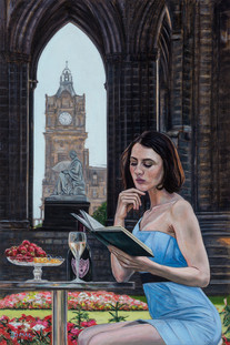 Waverly Novels - Oil on Canvas - 30 x 20 inches