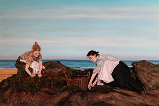 Gathering the Wrack - Oil on Canvas - 30 x 20 inches