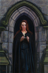 A Candle for St.Giles - Oil on Canvas - 30 x 20 inches