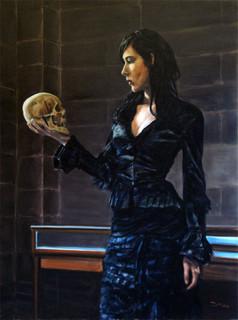 Black Dress & Skull