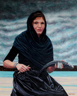 The Fisher Lass - Oil on Canvas - 30 x 24 inches