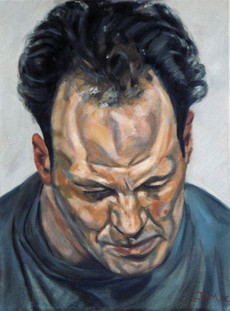 Frank Auerbach Study - Oil on Canvas - 16 x 12 inches