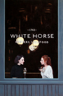 White Horse - Oil on Canvas - 36 x 24 inches
