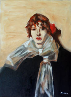 Sargent Study #1- Oil on Canvas - 24 x 18 inches