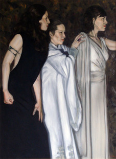 Athena, Metis and Hestia - Oil on Canvas - 40 x 30 inches