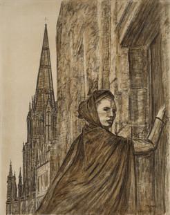 Gothic Edinburgh - Oil on Canvas - 30 x 24 inches