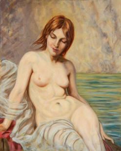Herbert Draper Study - Oil on Canvas - 20 x 16 inches