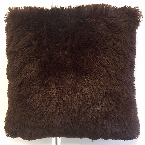 Pude, brun plys / pillow, brown plush