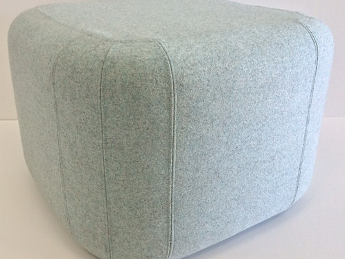 Quadro puf, blåmeleret / Cuadro pouf, blue dappled