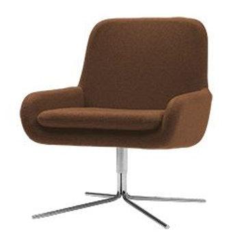 Coco lænestol m. drejefod, rust / Coco swivel armchair, rust