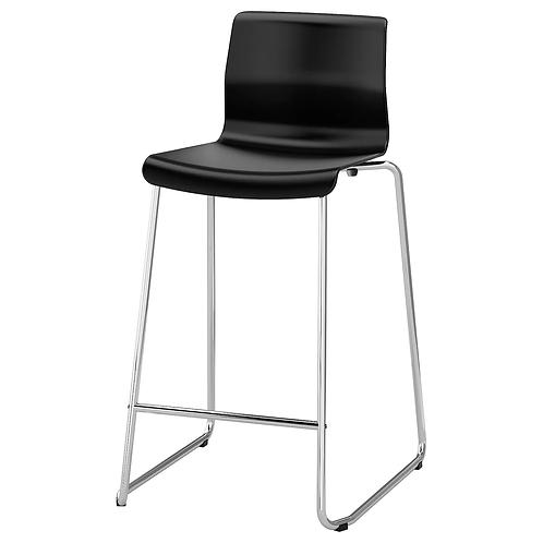 Barstol, sort stabelbar / bar stool black stackable