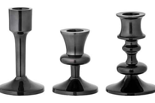 Lysestage, sort, aluminium / candlestick, black, aluminium