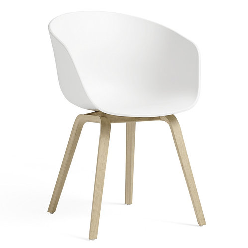 HAY About a chair, hvid og eg / HAY About a chair, white and oak