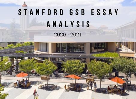 Stanford GSB 2020-2021 Essay Analysis
