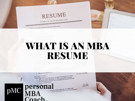 What Is an MBA Resume?