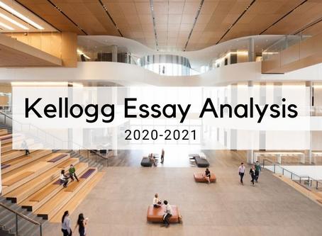 Kellogg 2020-2021 MBA Application Essay Analysis