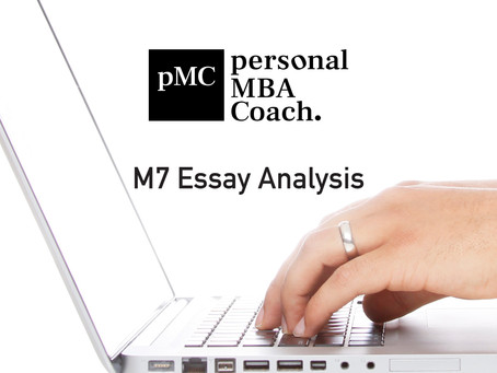 Personal MBA Coach's 2019-2020 M7 Essay Analysis E-Book