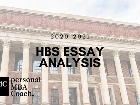 Harvard Business School MBA Essay Analysis: 2020-2021