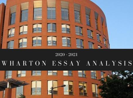 Wharton 2020-2021 Essay Analysis
