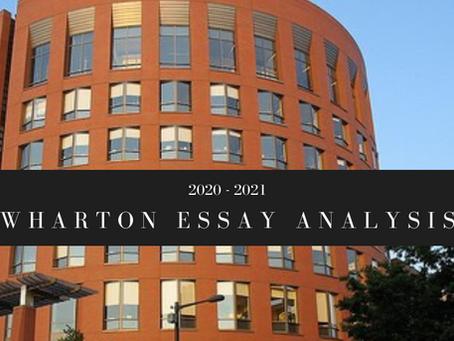2020-2021 Wharton MBA Essay Analysis