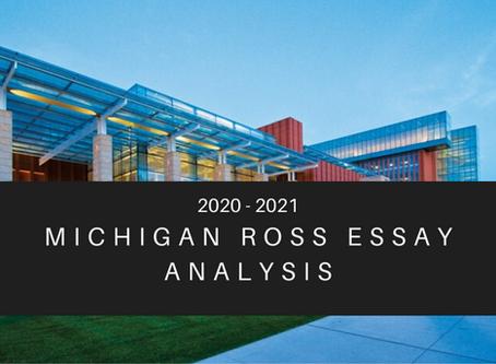 Michigan Ross 2020-2021 Essay Analysis