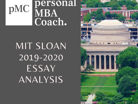 MIT Sloan Class of 2022 - Essay Questions & Analysis - Fall 2019 - Spring 2020