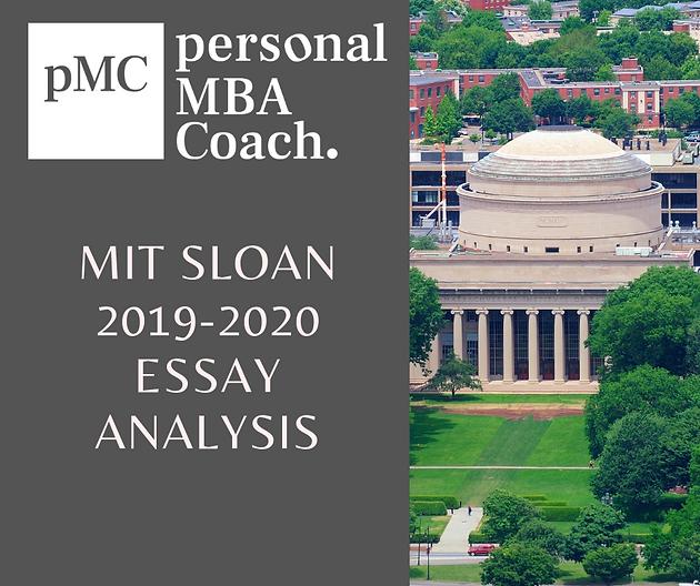 MIT Sloan MBA Essays Tips 12222-2020