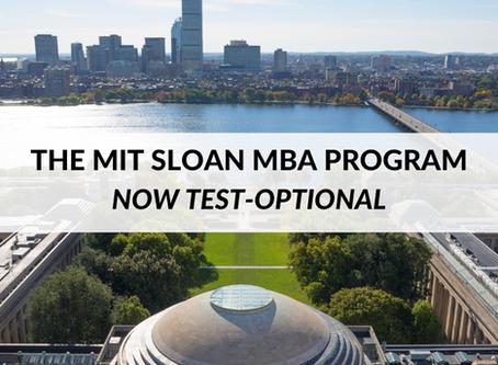 The MIT Sloan MBA Program: Now Test-Optional