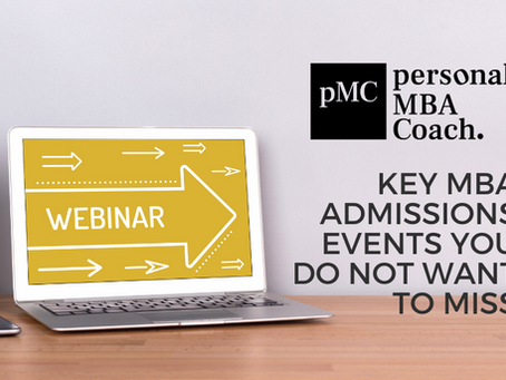Key MBA Admissions Events You Do Not Want to Miss