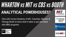 Wharton vs MIT vs CBS vs Booth