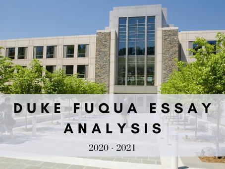 Duke Fuqua 2020-2021 MBA Application Essay Analysis