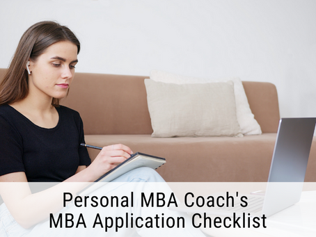 Personal MBA Coach's MBA Application Checklist