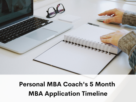 Personal MBA Coach's 5 Month MBA Application Timeline