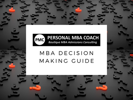 Personal MBA Coach's MBA Decision Making Guide