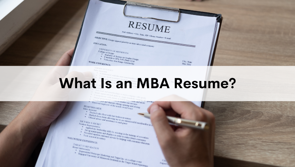 what-is-an-mba-resume