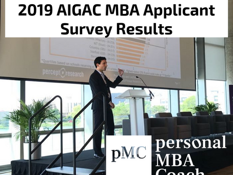 Personal MBA Coach's Takeaways from the 2019 AIGAC MBA Applicant Survey