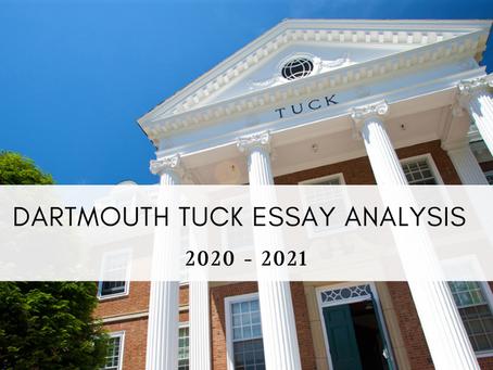 Dartmouth Tuck 2020-2021 MBA Application Essay Advice