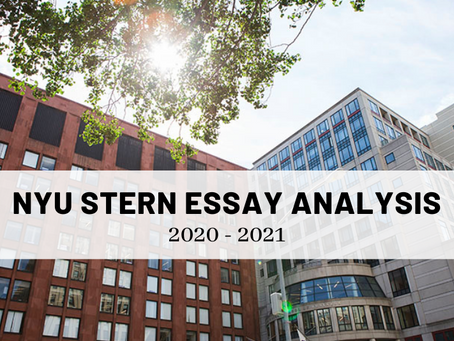 Tips for Tackling the NYU Stern 2020-2021 MBA Application Essays
