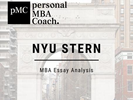 2019 - 2020 NYU Stern MBA Essay Analysis
