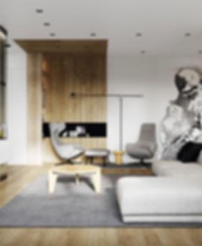 современный дизайн интерьера квартиры в Минске