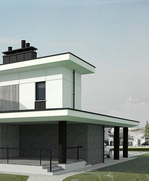 проект двухэтажного современного дома Добрин