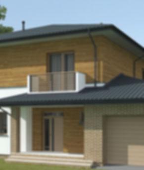 Проект двухэтажного дома с Баторин с гаражом