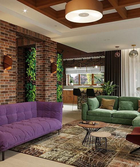 Дизайн интерьера дома в п. Хатежино, Минский район
