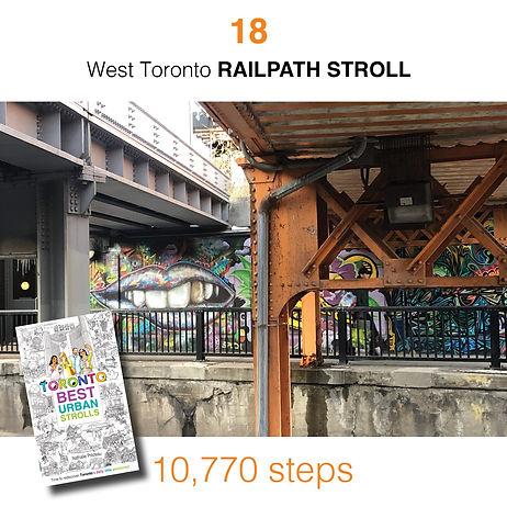 WALK #18 West Toronto RAILPATH STROLL by