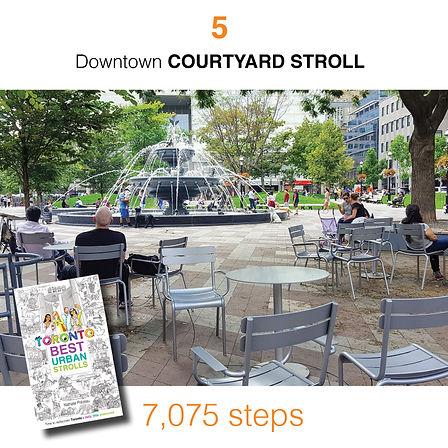 WALK #5 Downtown COURTYARD STROLL by Nat