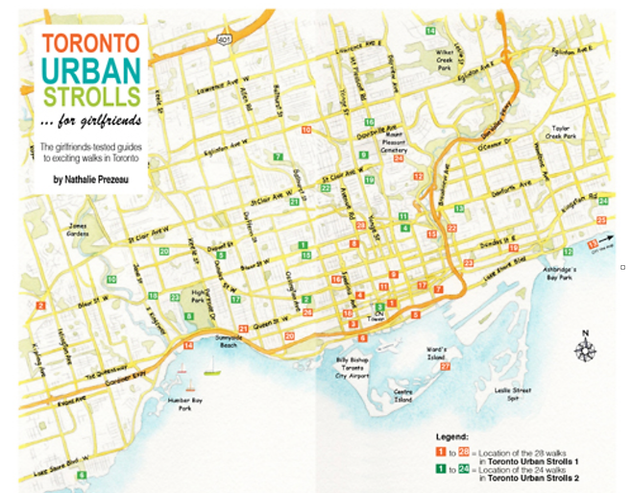 MAP of territory covered by Toronto Urba